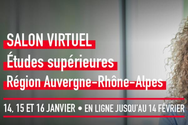 Salon virtuel des études supérieures de la région Auvergne-Rhône-Alpes