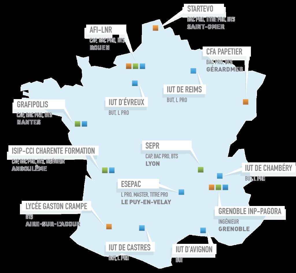 Carte France 2021 Afifor